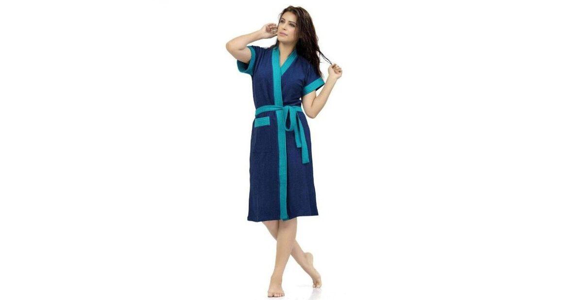 Bathrobes for Women Terry Cotton, Free Size Bathsuit