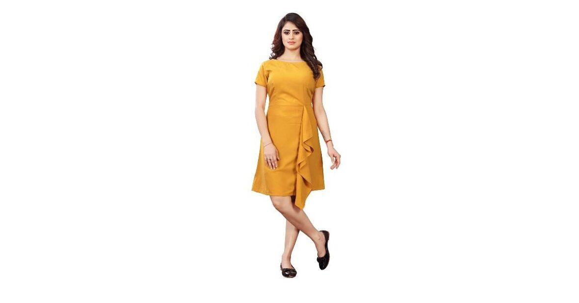 Knee Length Western Dress Pure Cotton